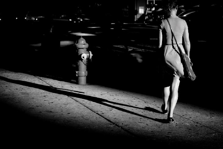 she and her shadow walk away from me by Michael Sullivan