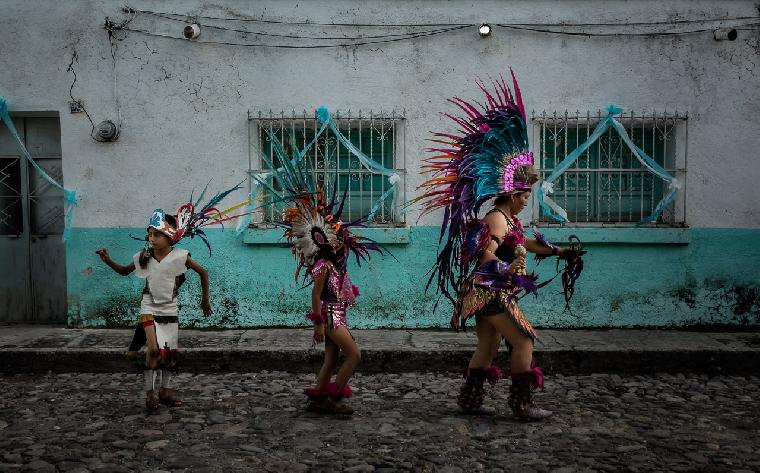 Aztec Dancers in Mexico by Dane Strom