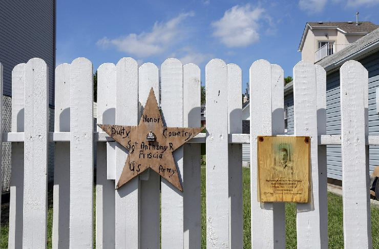 Star for Sgt. Friscia, Staten Island  by Edward Coppola