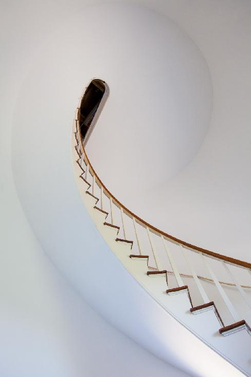 Stairs of Cape Pogue Light by Ginny Newton