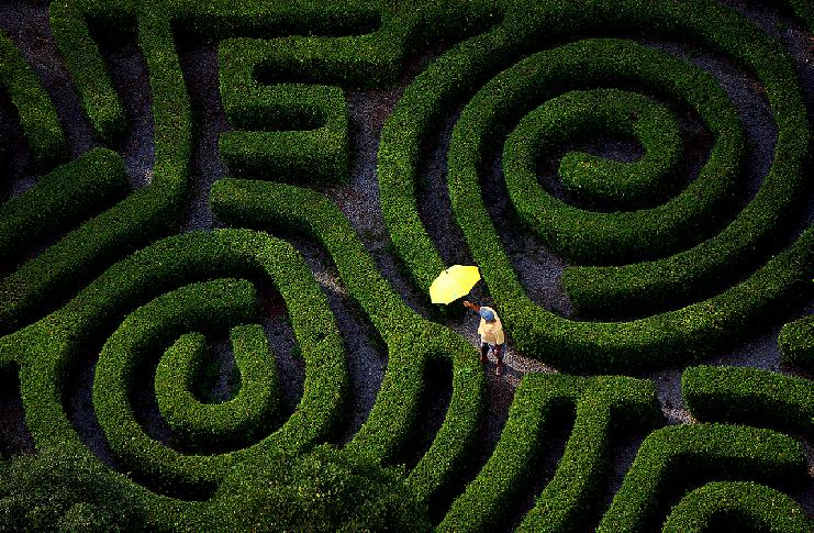 Man with Two Spirals by Jolanta Mazur