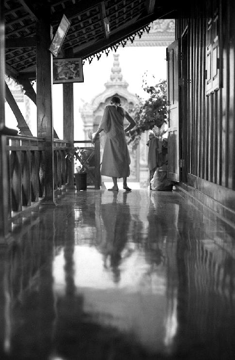 Reflection, Luang Prabang, Laos, 2006 by Dave Rudin