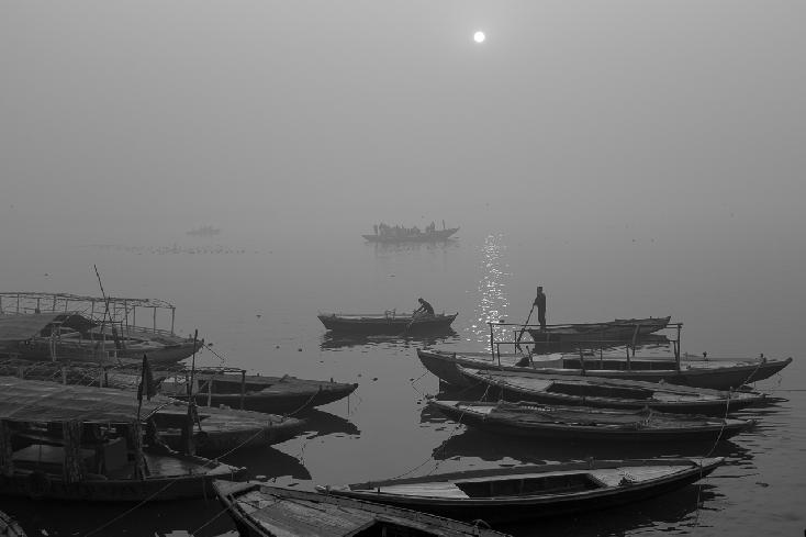 Ganges Boats No. 2, Varanasi by Robert Moore