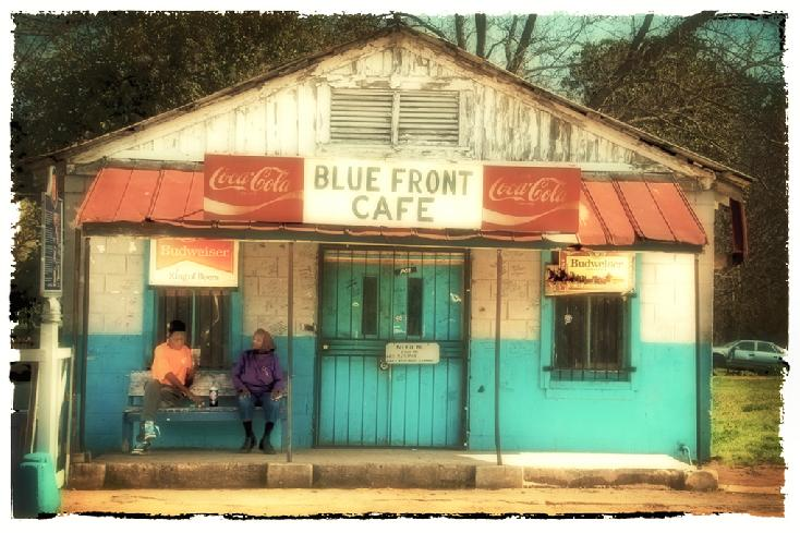 Blue Front Cafe by Norma McGehee Woodward