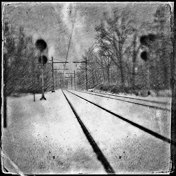 The Last Train Out of New York City by Marian Rubin