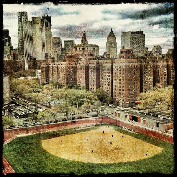 "Juror's Choice: ""Baseball and the Skyline"" by Erik S. Lieber Brooklyn, NY USA"
