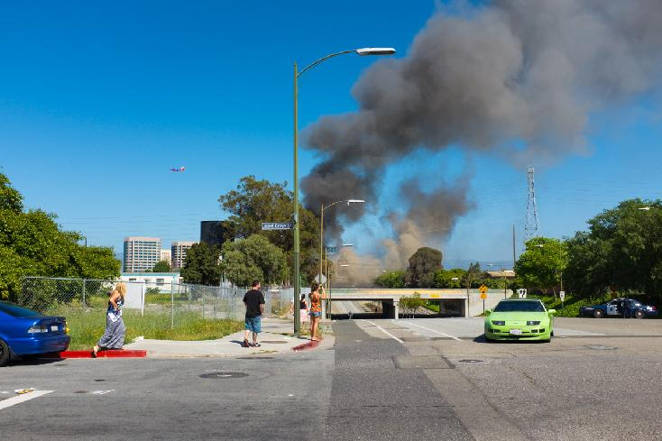 "Juror's Choice: ""Fire, San Jose, California. 2013"" by Michael Martin from San Jose, CA USA"