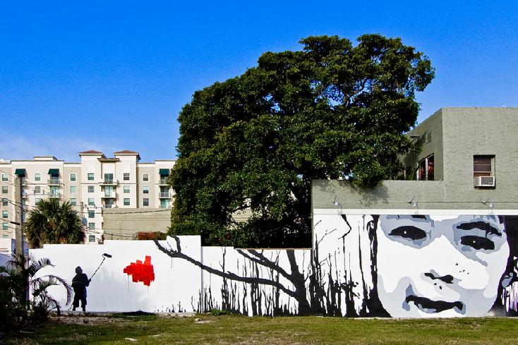 Tree with Mural by Steven Millman