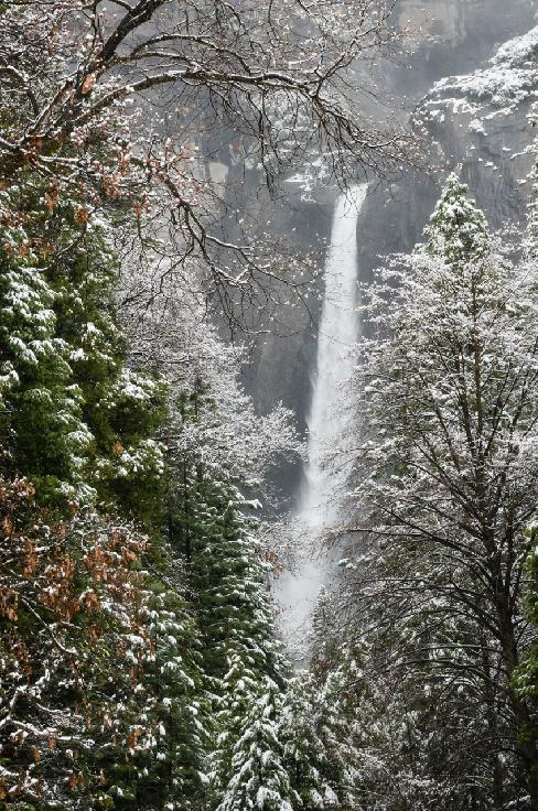 Yosemite Spring Snow by Judith Monteferrante
