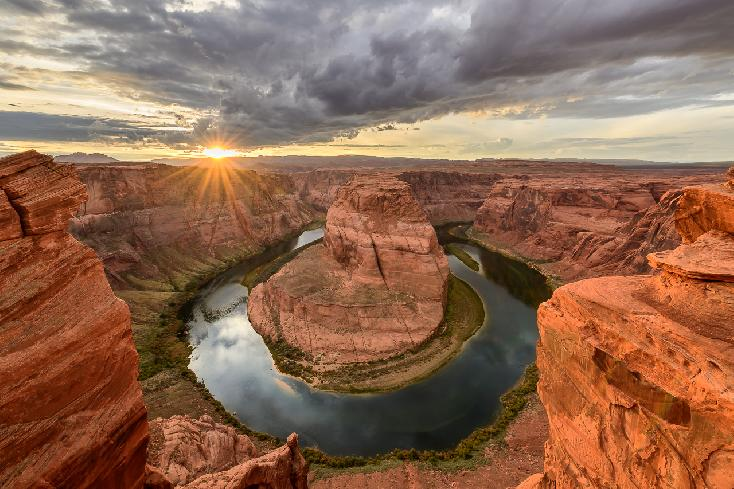 Sunset at Horseshoe Bend by Jeff Dannay