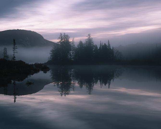 Shrouded Sunrise by Eric R Allard